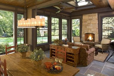 Pinterest the world s catalog of ideas for Four season rooms with fireplaces