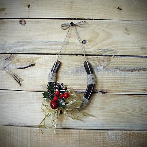 Horseshoe Snowman Horseshoe Decor Diy Christmas Decorations