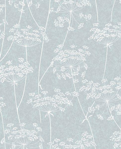 Mount Washington Aura 33 X 20 Floral And Botanical Wallpaper Grey Wallpaper Floral Wallpaper Blue Wallpapers