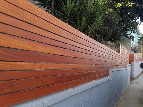 Wall Toppers Privacy Fence Harwell Design Fences Driveway Gates Los Angeles Santa Monica Concrete Block Walls Wood Fence Design Building A Fence