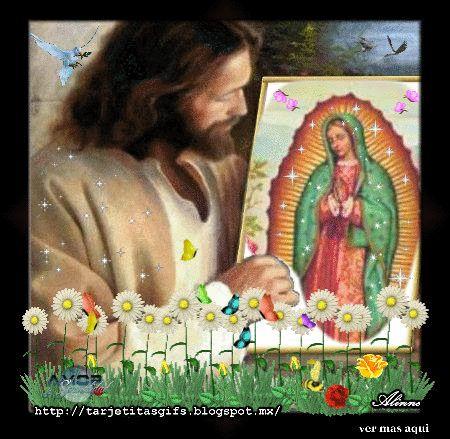 Tarjetitas en Gifs: Oración a la Virgen de Guadalupe