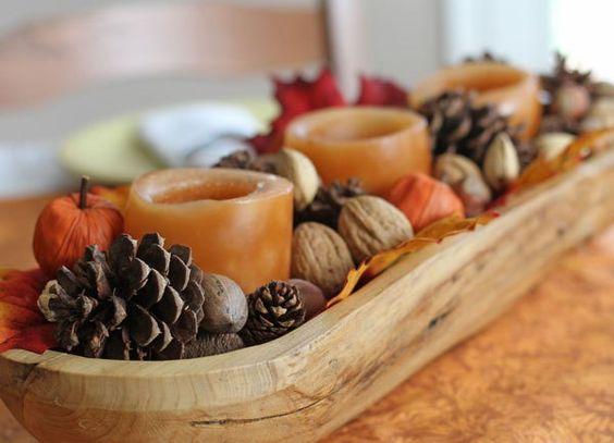 Dough bowl centerpiece @ ruminationsandreckonings.com: