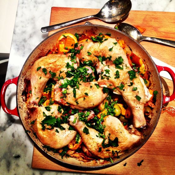Bill Granger's Baked Chicken with Potatoes, Lemon and Olives