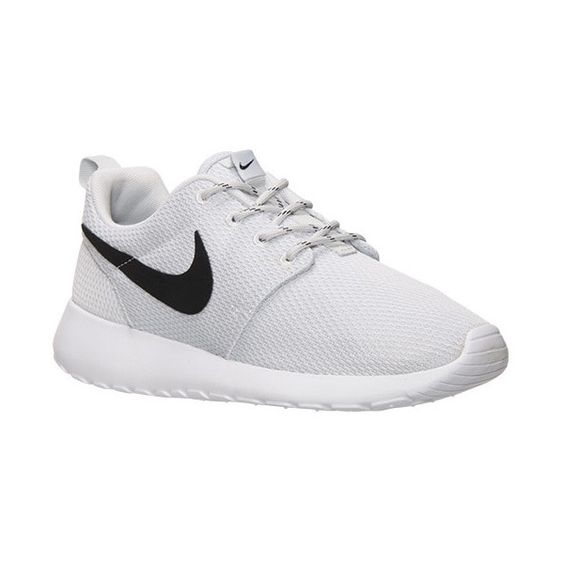Women's Nike Roshe One Casual Shoes featuring polyvore, fashion, shoes, sneakers, nike, retro shoes, patterned shoes, mesh shoes and waffle shoes