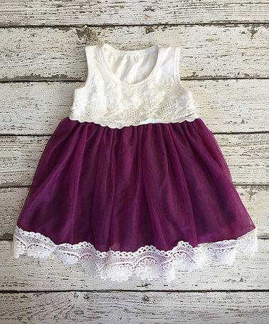Look at this #zulilyfind! Eggplant Vintage Lace Tank Dress - Infant & Toddler #zulilyfinds: