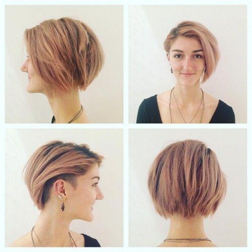 Resultado De Imagen Para Women S Undercut Layered Bob Kapsels Voor Kort Haar Kapsels Half Lang Haar