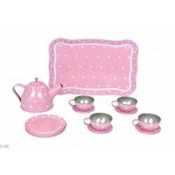 Kinderteeservice aus Blech in rosa von JaBaDaBaDo
