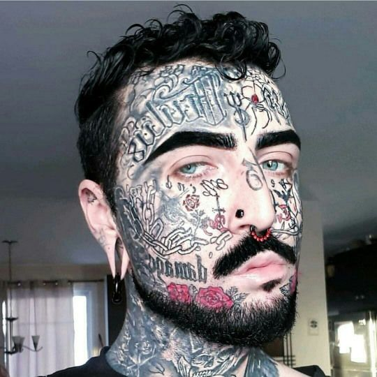 Voted The Scariest 35 Tattooed Guys In The World Tattooed Tattoos Wow Tattoos For Guys Neck Tattoo For Guys Facial Tattoos