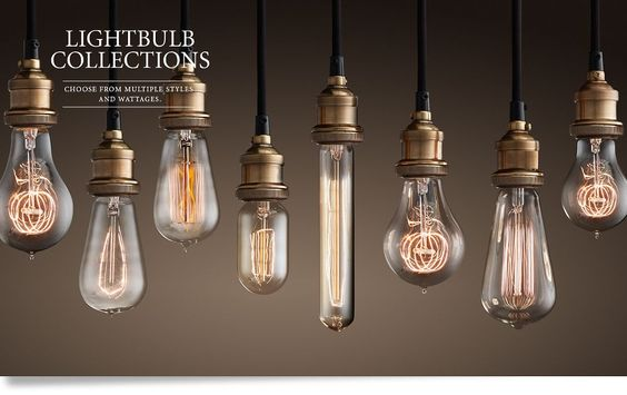 ... old-fashioned reproduction filament style lightbulbs that add the
