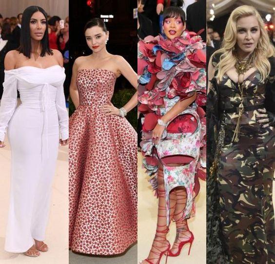 Kim Kardashian & Madonna au Met Galae