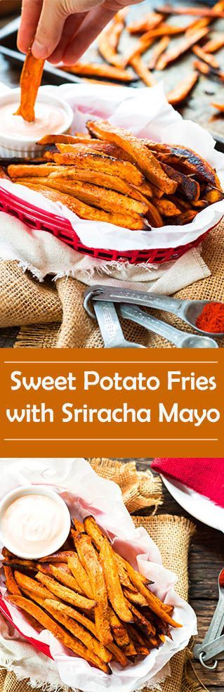 recipe for crispy sweet potatoes fries that are BAKED and not fried ...