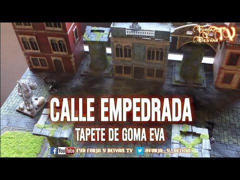 TUTORIAL CALLE EMPEDRADA FACIL TAPETE GOMA EVA - YouTube