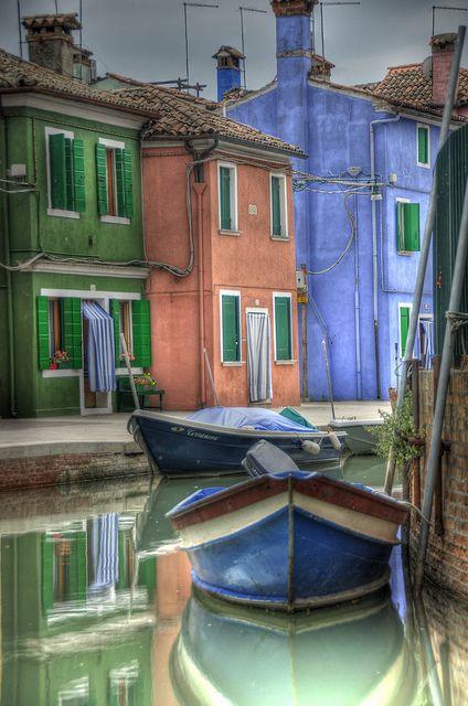 Burano, an island in the Venice Lagoon, Veneto Region, italy.