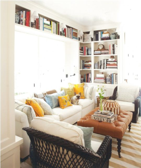 Add This To Your Blog Roll: Mark D. Sikes: House Beautiful, Living Rooms, Built Ins, Window, Livingroom, Family Rooms, Book Shelves