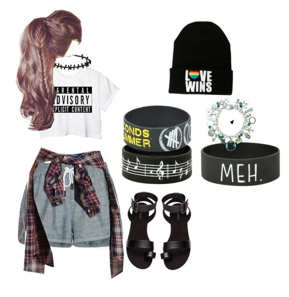 """ROWYSO IN 5 DAYS"" by rikerlynchsbae ❤ liked on Polyvore featuring moda, rag & bone/JEAN, Charlotte Russe i H&M"