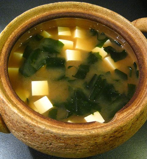 Tofu and Wakame Miso Soup | FOOD - Soy Milk, Tofu, Okra, Miso Recipes ...