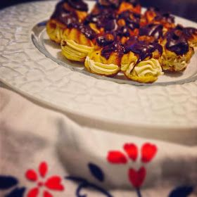 FAZeCOME: Profiteroles com café e chocolate