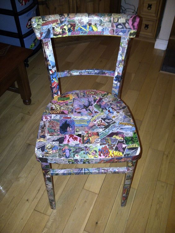 Vintage Batman Comic Book Chair   - And Who Says You Can't?