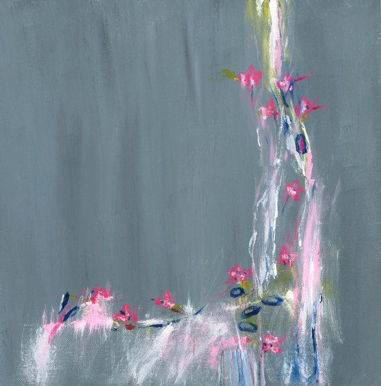 Grey Original Abstract Painting