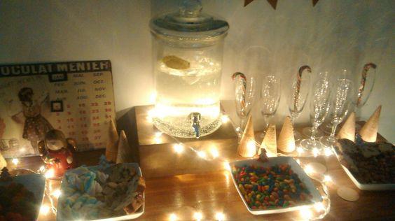 Mesa dulce, candy bar, año nuevo