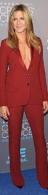 Jennifer Aniston in Gucci at the 2015 Critics' Choice Awards