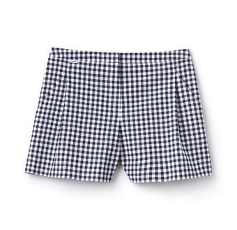 Women's Gingham Printed Bermuda Shorts