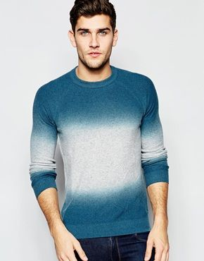 United Colors of Benetton Dip Dye Knitted Jumper