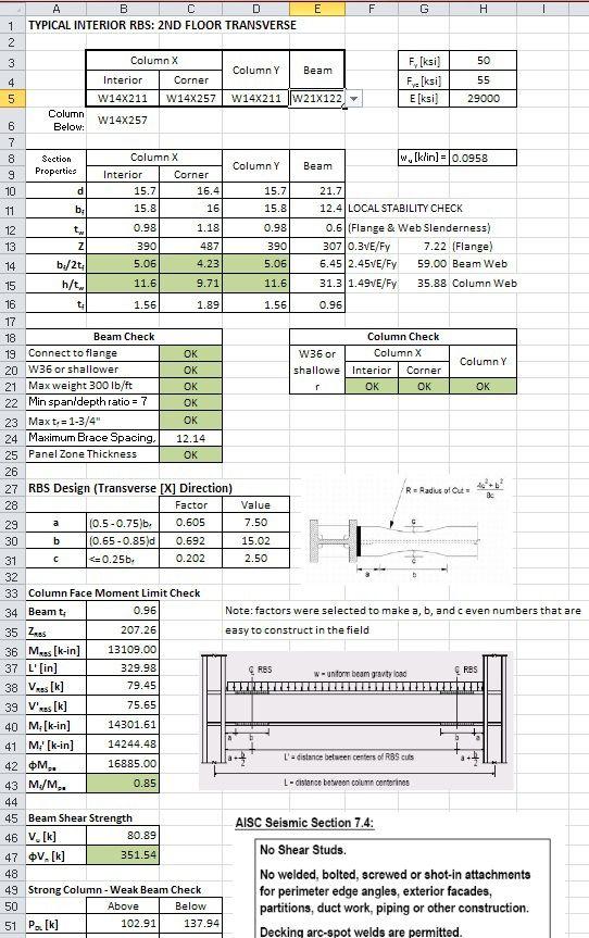 Excel Spreadsheet Design For Engineering Calculations On Behance Spreadsheet Design Civil Engineering Design Engineering Notes