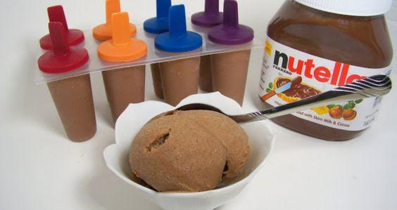 1 taza de Nutella, 6 platanos y hacer una pasta con la licuadora