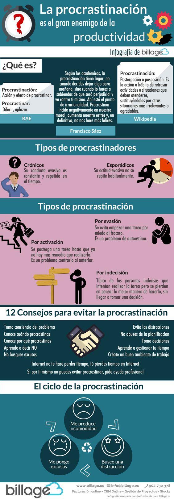 Procrastinación: el gran enemigo de la Productividad #infografia: