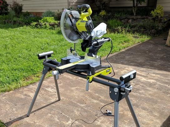 Ryobimodel Tss120l4 5134 672 15 Amp 12 In Sliding Miter Saw With Laser 249 Showed On The Ryobu Portable Mitter Saw Miter Saws Mitered