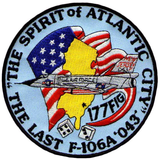 119th Fis 177th Fig Last Flight Patch 59 0043 1 Aug 1988 To Amarc Air Force Patches Military Patch Patches