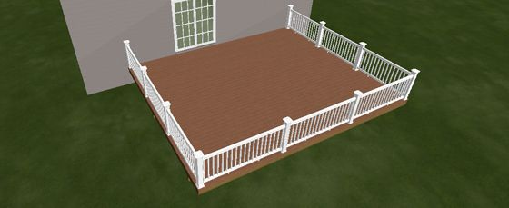 20 X 24 Trex Deck Kit Includes 84 12 Trex Deck Boards 12 2 X 8 X 12 Joist Pt 19 2 X 8 X 20 Double Beam Pt 10 4 Trex Deck Deck Trex Deck Boards