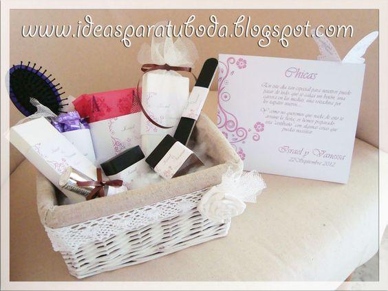 Cestas ba o chicas con cartel decorativo ideas boda - Kit bano boda ...
