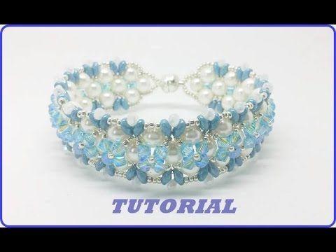Bracciale Bibop. Come fare un bracciale con perle e swarovski. Tutorial perline - YouTube