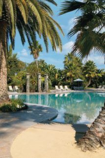 The pool at Paradise Point Resort and Spa in San Diego