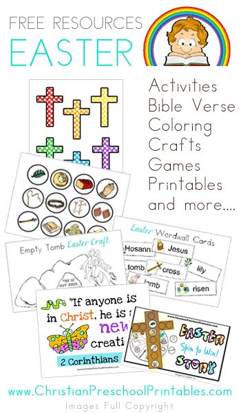 Tons of Easter Resources: Coloring, Verse Cards, Games, Printable ...