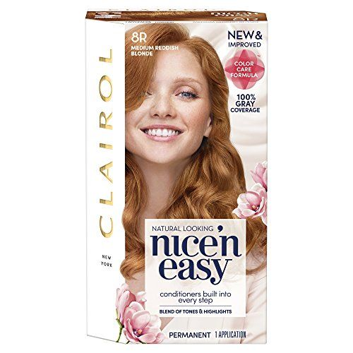 Clairol Nice N Easy 8r108 Natural Medium Reddish Blonde Permanent