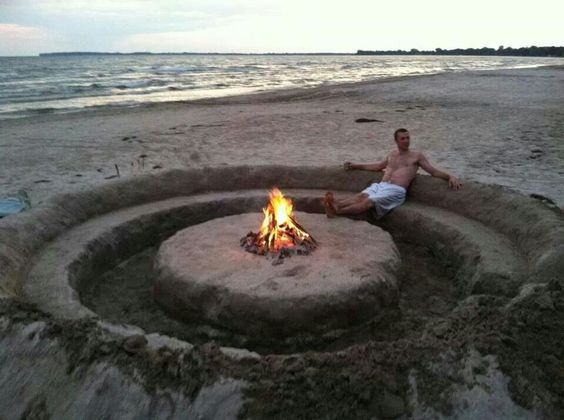 This is the way to chill out on the beach...