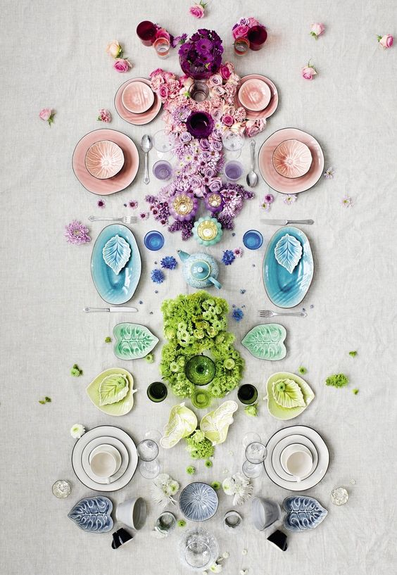 Colorful table inspiration for your wedding registry!