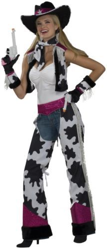 Glamour and Sexy Cowgirl Adult Costume Brand By Forum Novelties Inc