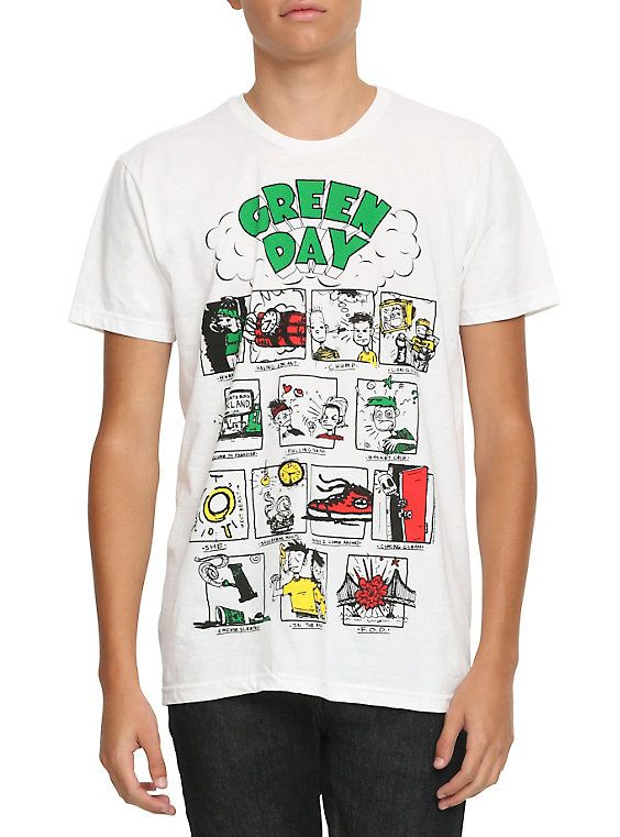Green Day Dookie Songs T-Shirt, WHITE