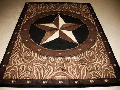 5x7 5 3 Quot X 7 2 Quot Texas Star Western Rustic Cowboy Brown