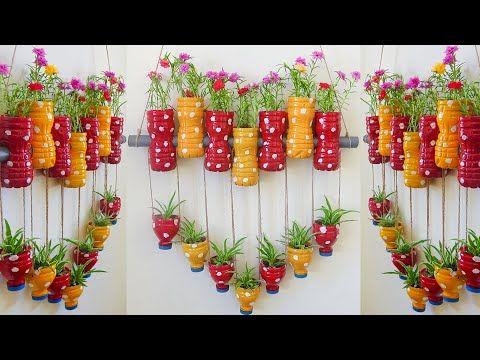 Diy Plastic Bottles Hanging Flower Gardens