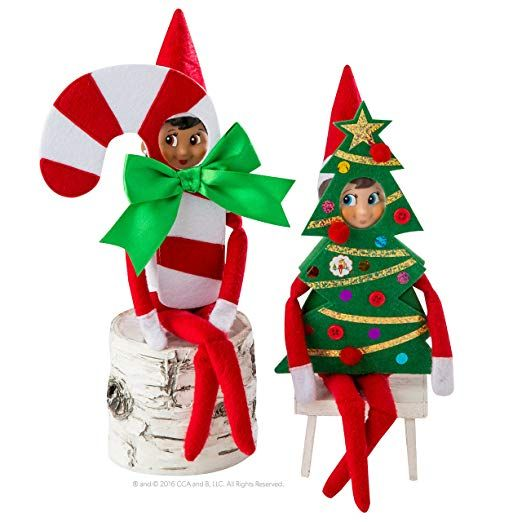 Amazon Com Elf On The Shelf Claus Couture Haha Holiday Costumes Novelty Red Whi Elf Christmas Decorations Awesome Elf On The Shelf Ideas Elf On Shelf Costume