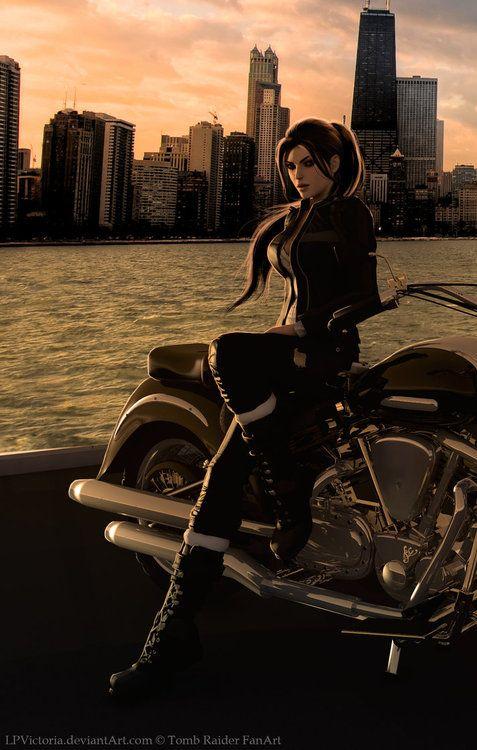 Chicago backdrop for Lara Croft by LPVictoria.deviantart.com