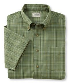 #LLBean: Wrinkle-Resistant Twill Sport Shirt, Traditional Fit Short-Sleeve Windowpane