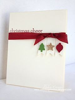 Clean and simple Christmas card...Stampin Up...ARTfelt Impressions...