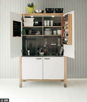 Kitchenettes cuisine and minis on pinterest - Mini cuisine pour studio ...
