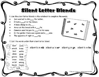 Included in this download:  * a game - Silent Knight   * 2 activity sheets to complete after the game or to assist in the consolidation of silent letter blend knowledge